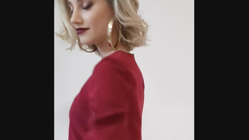 Платье цвета рубин для беременных и кормящих Happy-Moms.ru
