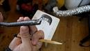 Обработка древесины на токарном станке часть 3. Заточка расточного крючка.