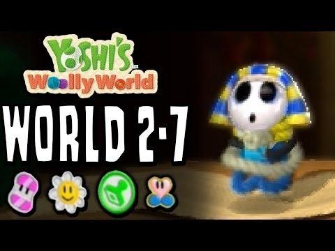 Yoshi wooly world 2-7 The Desert Pyramid Beckons !