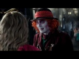 alice and hatter full goodbye scene - alice through the looking glass