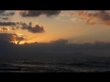 Sunset on the island of Crete