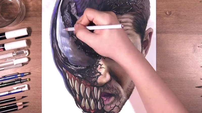 Drawing Venom (Tom Hardy) _ drawholic