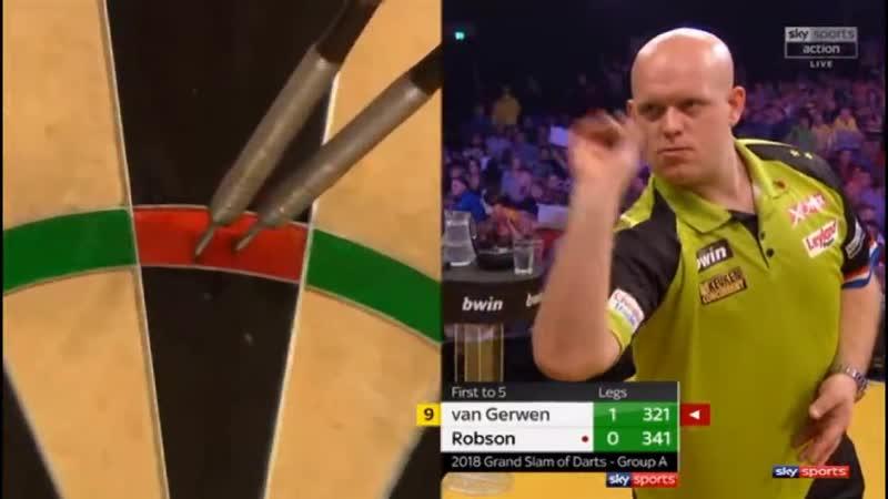 2018 World Grand Slam of Darts Group A van Gerwen vs Robson