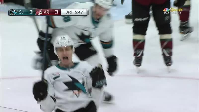 Лукаш Радил забил первый гол в NHL за Сан-Хосе Шаркс