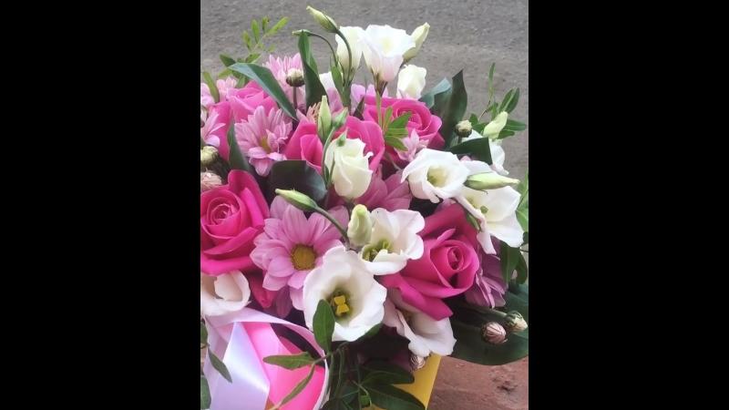 Коробочка с розовыми розами💓