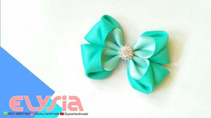 Laço Gisel 🎀 Gisel Ribbon Bow 🎀 DIY by Elysia Handmade