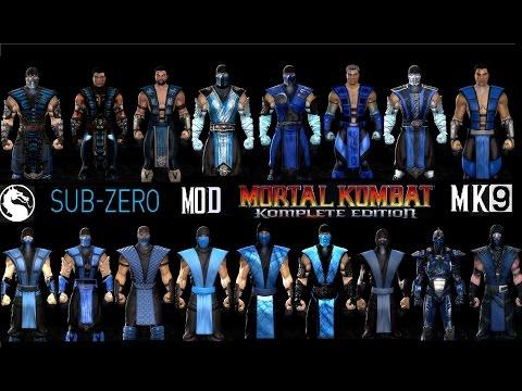 Mortal Kombat ALL SUBZERO MK Costume Skin PC Mod MK9 Komplete Edition MKKE HD
