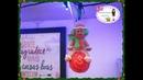 DIY-Bolas de Natal de Isopor com Relevo e biscuit
