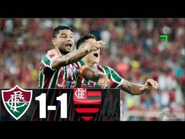 Fluminense 1 x 1 Flamengo (HD 720p) FLU NA FINAL - Melhores Momentos - Taça Rio 22/03/2018