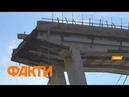 В Италии упал автомобильный мост - десятки погибших