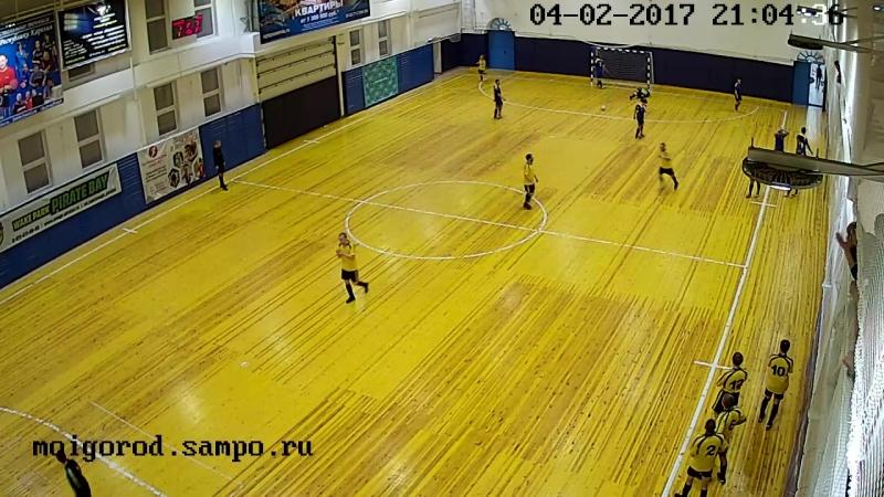 7-ой матч Антарес-ПСК 2-ой тайм 1-ый гол Сявы 04.02.17 (итог игры 4-0)