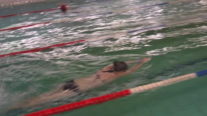 Алина Холод., первые 50 м, 5 занятие