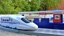 Поезда для детей Высокоскоростной поезд Искра и железная дорога Игрушки для мальчиков