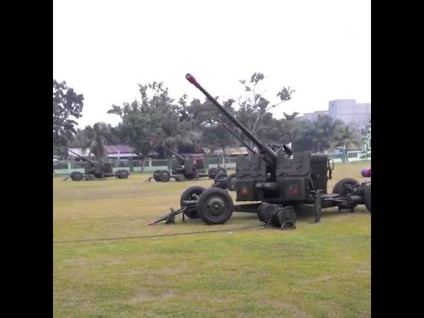 Indonesian Retrofit of S 60 57mm Anti Aircraft Gun