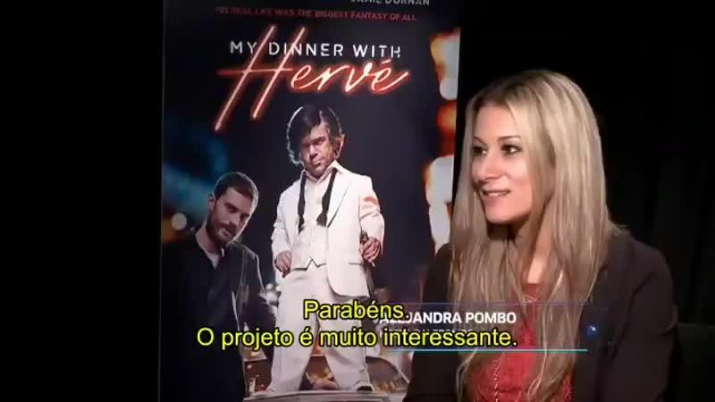 [LEGENDADO] Nova entrevista de Jamie e o cat de My Dinner with Hervé para @HBO_Brasil! JamieDornan [Parte 1]