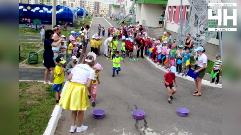 Лето в чебоксарских детских садах проходит весело, увлекательно и познавательно.