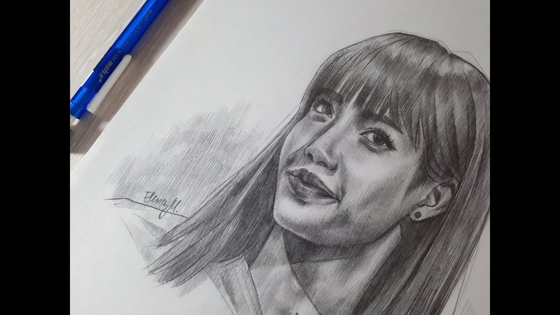 BLACKPINK LISA graphite drawing by Elena Martynyuk