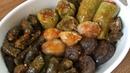 Долма лук виноградные листья кабачки сладкий перец фаршированные мясом рисом Tadına doyamayacağınız karışık dolma nasıl yapılır