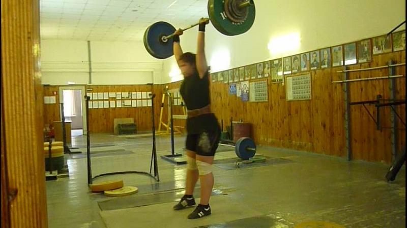 Настя. Сегодня. 18.06.18 г. Толчок классический-92.5 кг. Довольно неплохо. Тренер доволен. Очень!