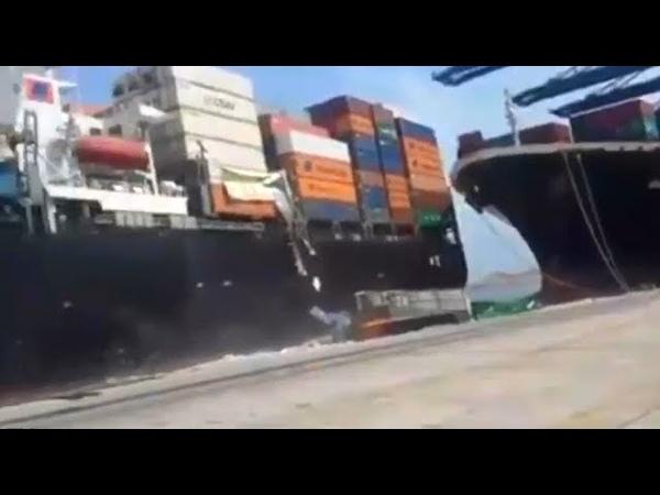 Столкновения гигантских кораблей и аварии в море