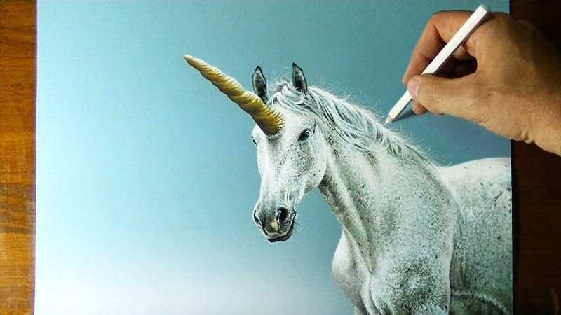 UNICORNS ARE REAL BELIEVE **This is a DRAWING from LIFE**