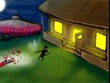 Black cat UFO encounter