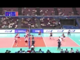 VNL is Volleyball ! - Fantastic foot save from Italys libero Rossini to keep the bal