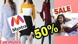 50 SALE ( CASUALS) HUGE MYNTRA - TRY ON HAUL