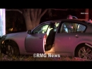 Robbery suspects crash into vacant house during pursuit in Glendoa California