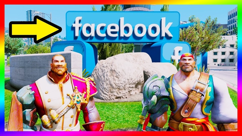 GTA 5 Mods - Anh Em ROURKE Đi Thăm Trụ Sở Facebook Tại Mỹ | Liên Quân Mobile | GTA5MODAZ