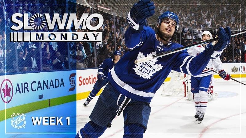 Лучшие моменты первой недели НХЛ сезона 201819 в слоу мо