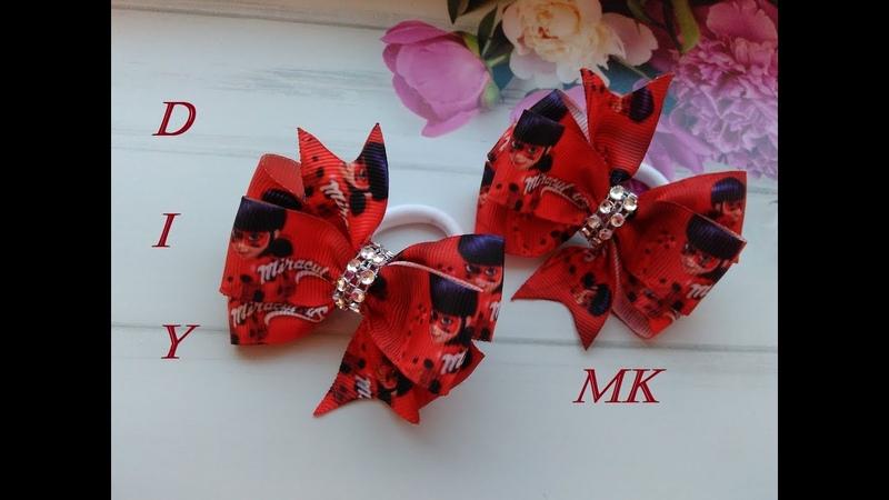 Бантики мультяшки из репсовых лент МК Канзаши / Bows cartoons, turnip ribbons