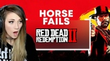 Most HILARIOUS Horse Fails!!! RED DEAD REDEMPTION 2 Highlights Lindsay Elyse