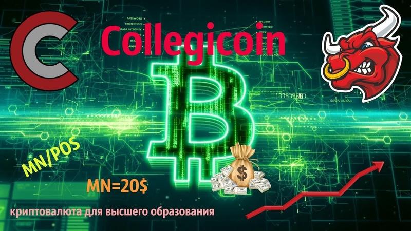 Collegicoin Новый Долгосрочный Проект MN btc CLG