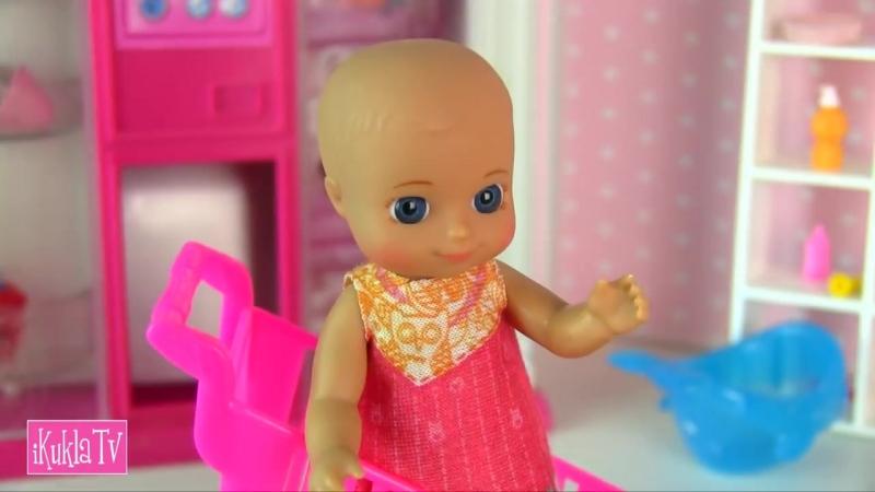 [iKuklaTV ❤ Игры в Kуклы со Слоником ❤] В ДЕТСКИЙ МИР ЗА ПОЛЗУНКАМИ! Мультик Барби Беременная Мама Куклы для девочек