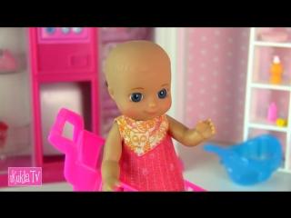 [iKuklaTV ❤ Игры в Kуклы со Слоником ❤] В ДЕТСКИЙ МИР ЗА ПОЛЗУНКАМИ! Мультик #Барби Беременная Мама Куклы для девочек