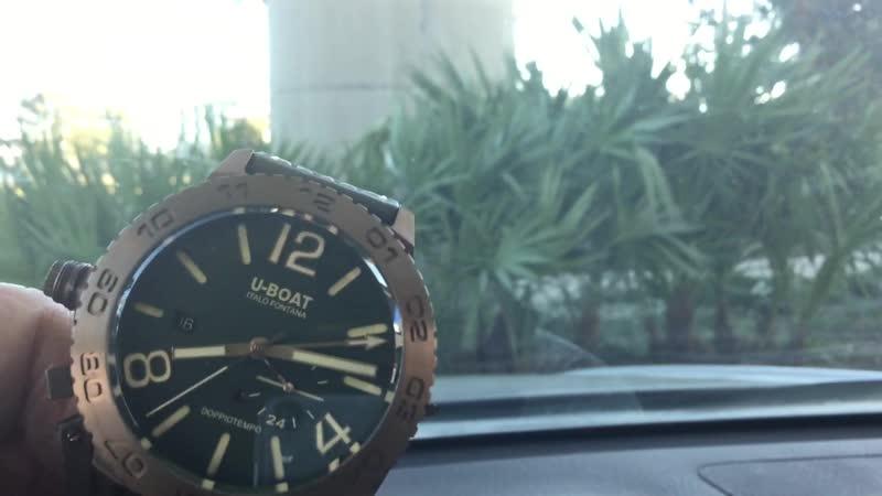 U-BOAT DoppioTempo Bronzo (Green) Wrist Watch review by Dale