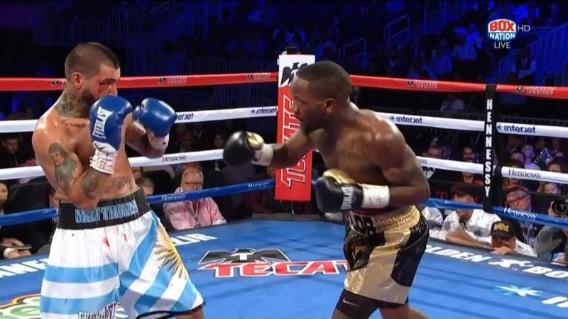 Lucas Matthysse vs. Emmanuel Taylor knockdown
