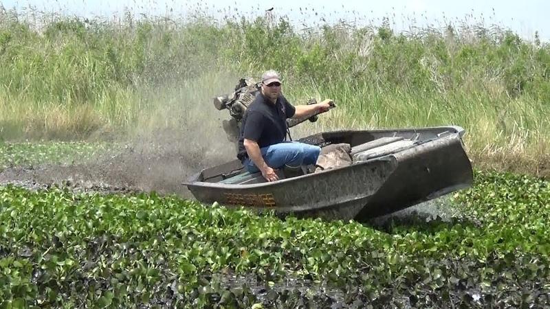 Вперед по болотам и мелководью.Грязевой лодочный двигатель.
