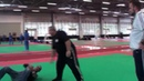 Mikhail Ryabko Testing the mats at the Grand Expo in Italy Systema Russian Martial Art