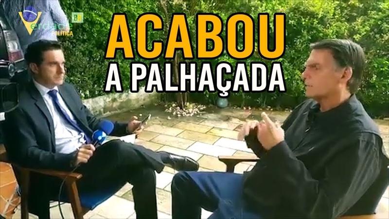 Em entrevista a REDETV, Bolsonaro mostra firmeza para condução de um novo BRASIL