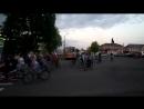 Возвращение участников велопробега на площадь Героев п. Медвенка
