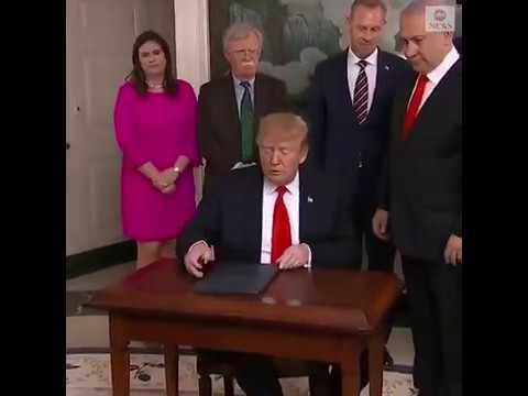 Трамп подписал документ о признании суверенитета Израиля над Голанскими высотами
