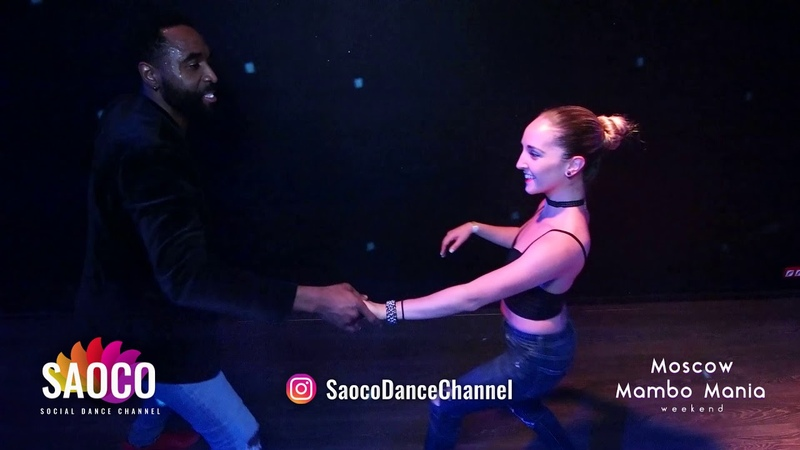 Steeve Oagi and Denisse A. Cambria Salsa Dancing at 2nd Moscow MamboMania weekend 2019, Fri 08.03.19