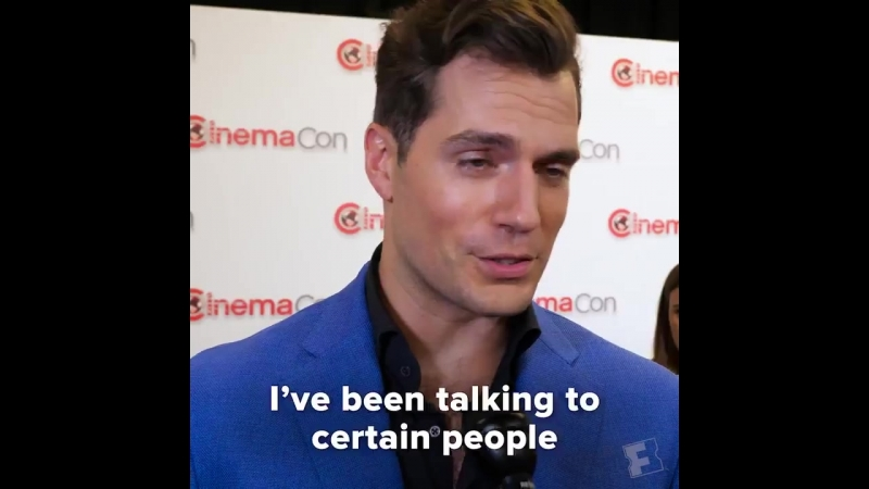 Henry Cavill would like to get back in the Superman cape ASAP. - CinemaCon