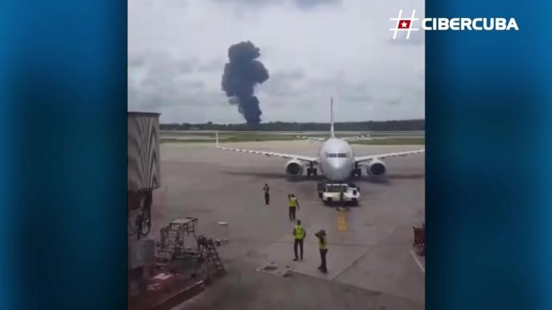 Primeras imágenes del accidente aéreo en Cuba
