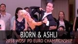 Bjorn Bitsch &amp Ashli Williamson Медленный фокстрот 2018 WDSF PD Чемпионат Европы - Четвертьфинал