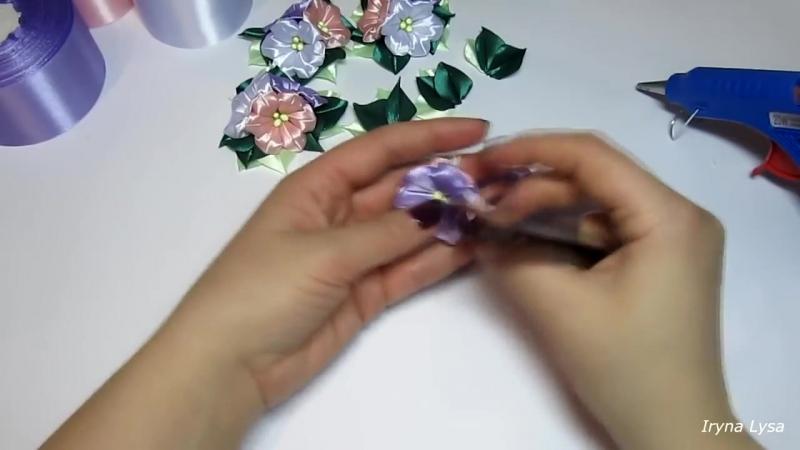 Лента Для Волос С Цветами🌺 КАНЗАШИ МК_DIY Hair Accessories, Kanzashi Flowers
