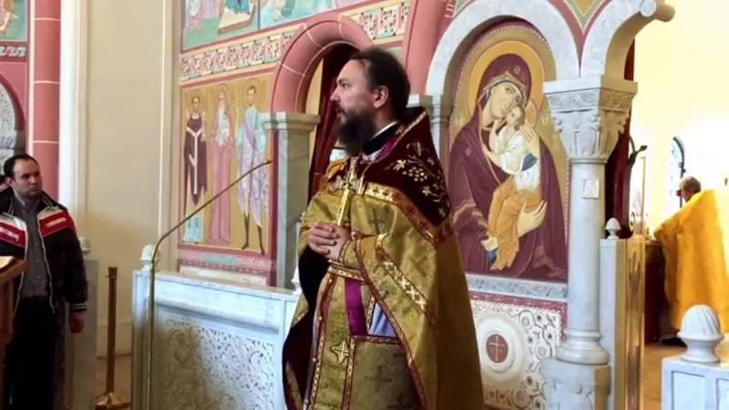 Проповедь протоиерея Павла Великанова в храме св. прав. Иоанна Кронштадтского в Гамбурге