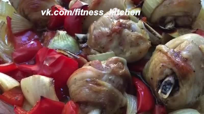 Куриные голени с овощами.